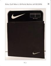 Nike Golf Men's Billfold Wallet 64100 Brown