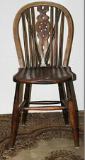 Antique Ash & Elm Wheelback Windsor Kitchen Chair - FREE Delivery [PL1805]