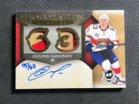 2018-19 UD THE CUP EVGENII DADONOV HONORABLE NUMBERS DUAL PATCH AUTO #ed 5/63