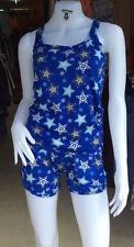 Sexy Blue Star Print Match Set Shorts Pants&Top Set 8-10