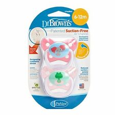 Lot(3) Dr. Brown's PreVent Contour Pacifier, Stage 2 (6-12m), 2Polka Dots Pink,