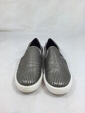 "Womens STEVE MADDEN ""Pazer"" Metallic Gray Loafers / Sneakers Sz 6 KS43"