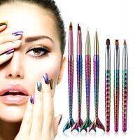 diy - maniküre acryl bild - tool die linie uv - gel. nail art stift flosse