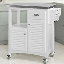 SoBuy® Servierwagen Edelstahlplatt,Küchenwagen,Küchenregal,Kücheninsel,FKW37-W