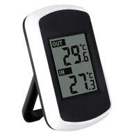 Innen Außen Digital-LCD Funk-Thermometer Wetterstation mit Sensor