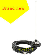 VHF 136-155MHz Antenna Magnet Mount Antenna Set For Mobile Radio 5M RG-58 Cable