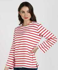 BNWT M&S Collection Red White Stripe Long Sleeved Top Size 20