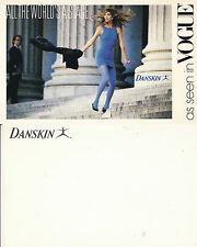 DANSKIN DANCEWEAR AS SEEN IN VOGUE UNUSED ADVERTISING COLOUR  POSTCARD