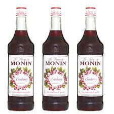 Monin Sirup Cranberry, 1,0L, 3er Pack