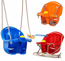 Childrens Childs Toddler Adjustable Outdoor Garden Rope Safety Safe Swing Seat