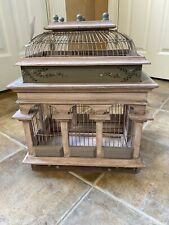 Wooden Wood Bird Cage Decorative Table Top