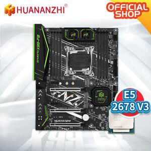 HUANANZHI X99 F8 X99 Motherboard with Intel XEON E5 2678 V3 LGA2011-3 DDR4 RECC/