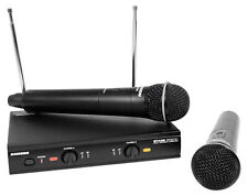 SAMSON Dual VHF Handheld Wireless Microphones - B Band For Church Sound Systems