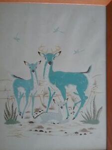 Woody Grumbo / Silk Screen  / Blue Deer Family / Listed Artist