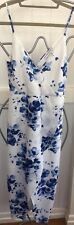 atmos here dress. NWOT. Size 8 Blue/white Floral Wrap Front Style . Summer Dress