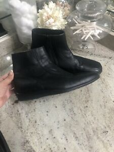 Via Spiga Ankle Boots Men's Black Leather Dress Italy - US 10 Diving