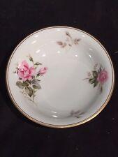 Small Desert Bowl Noritake 5460 Rosa Pattern China White Pink Rose Gold Trim