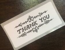 100 THANK YOU! STICKERS ENVELOPE/PACKAGE SEALS LABELS Drawing Professional