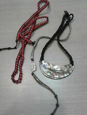 3 pc braided jewelry lot, 2 bracelets BALLA, FLORENCE SCOVEL, great condition,