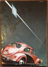 VOLKSWAGEN BEETLE CONVERTIBLE BROCHURE 1950'S  BUS SPLIT EARLY