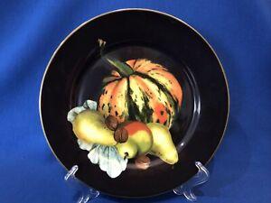 NEW~ 1 WILLIAMS SONOMA Harvest Pumpkin Salad Plate ~ w/Pears ~ Multiples