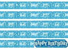 Pancartas y guirnaldas de fiesta color principal azul de papel