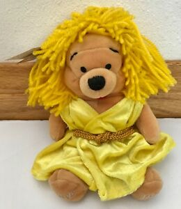 "The Disney Store Mini Bean Bag Virgo Pooh 8"" Plush Bear ~ NEW!"