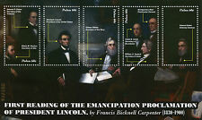 Palau 2011 MNH President Abraham Lincoln Emancipation Proclamation 5v M/S Stamps