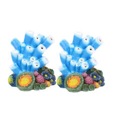 2PCS Air Stone Decoration Coral Air Stone Ornament for Fish Tank Oxygen Aquarium