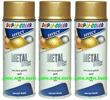 3x400ml Effektspray Lackspray Effekt Metal Decolack Goldeffekt Sprühfarbe Gold