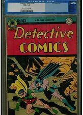 DETECTIVE COMICS COMICS BATMAN #103 CGC 9.6 1945 ORIGINAL SERIES UN-RESTORED