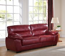 Oxblood Red High Grade 3 Seater Sofa Suite TORRENTO