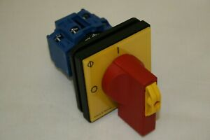 KRAUS NAIMER KG10B.T204/GBA281.E  20A 4 POLE PANEL MNT NON FUSED ISOLATOR SWITCH
