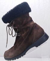 Propet Winter Boots - Brown Leather Suede Mid Calf Booties Women's Size 8 M(B)