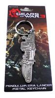 "Gears of War 3 PENDULUM ERA LANCER 3"" inch Metal Keychain Key Chain Neca 2011"