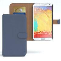 Tasche für Samsung Galaxy Note 3 Neo Case Wallet Schutz Hülle Cover Dunkelblau