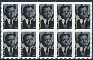 [I637] USA 2010 Oscar Micheaux good bloc of 10 stamps very fine adhesive