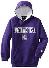 (Small 8)ADIDAS Boys Youth NCAA NW Northwestern Wildcats Pullover Hoodie Jacket
