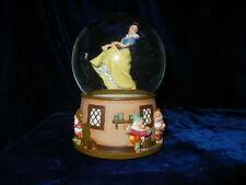 Disney Snow White Dancing Revolving Waterglobe Music Box * Dopey 7 Dwarfs * Rare