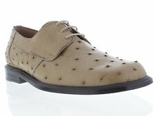 Men's Exotic Leather Genuine Beige Sand Ostrich Skin Dress Shoes