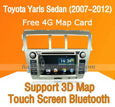 2Din Car Dash DVD Radio GPS Navigation BT for Toyota Yaris Sedan Vios 2007-2012
