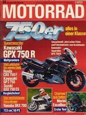 M8614 + Test MORINI Excalibur 501 + Egu YAMAHA SRX 723 + MOTORRAD 14 1986