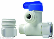 """John Guest 1/4"""" Plastic(lead Free)Angle Stop adapter valve for RO or ice maker"""