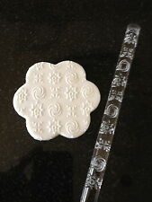 Texture embossing acrylic Rolling Pin No. 21 Stars and Swirls for sugar craft