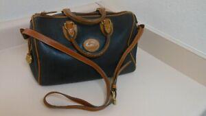 Vintage Dooney & Bourke  large doctors all weather leather black & brown bag!!!
