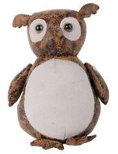 Owl Faux Leather Suede Fabric Door Stopper Heavy Animal Doorstop Home Decor