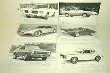 vtg 1960's Arcade SPORTS CAR SERIES 32 card complete set Chevrolet Dodge Pontiac