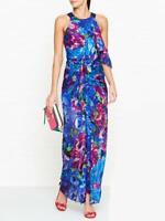 ALICE MCCALL Dream Girl $715 SILK evening gown maxi dress AU14 US10 Metallic NEW