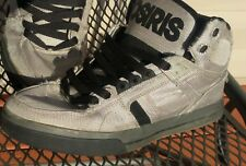 Osiris Rhyme Remix Grey & Black Skateboard Shoes Size 8
