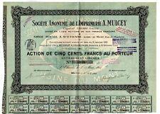 Societe Anonyme de L'Imprimerie a. Mulcey bond